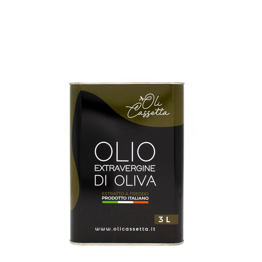 Cassetta Olio Extravergine Di Oliva 3 Litri Vista 2